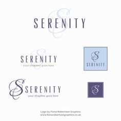 Serenity logo for sale - Fiona Robertson Graphics