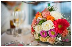 A captivating bridal bouquet that is full of colours