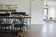 Dining room by Joanna Gaines