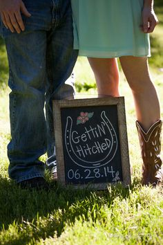 Save the date for a rustic or cowboy themed wedding