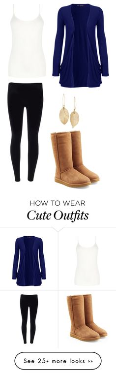 """""""Cute winter outfit"""" by patriotsfan101 on Polyvore featuring мода, WearAll, UGG Australia, Oasis и Lulu*s"""