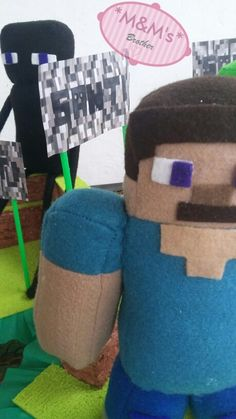 Peluche de Minecraf #Minecraft #peluche #plush #fieltro #feltro #pañoLenci #juguete #Diy