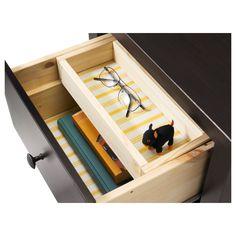 ХЕМНЭС Комод с 2 ящиками - черно-коричневый - IKEA