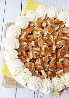 Banana Pudding Cheesecake _ This Banana Pudding Cheesecake is so delicious and banana-y, it will rock your world!