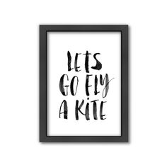 Americanflat ''Lets Go Fly a Kite'' Framed Wall Art, Multicolor