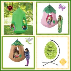 Hanging Happy Sac Multi Child Chair Play Pod Kids Outdoor In Playroom Bedroom