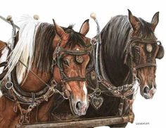 Horse Power.  Horse Water Color.  Original Artwork.