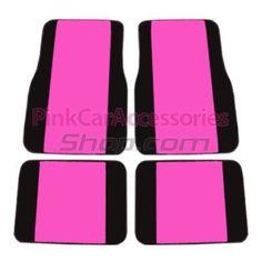 Hot Pink and Black Car Floor Mats