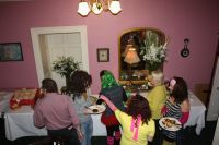 Join the buffet line at the Rectory Eighties House Party