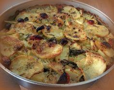Tiella barese di riso, patate e cozze