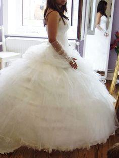 Prinzessin Brautkleid aus Tüll