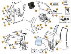 ssenger Door Module 3. AM Airbag Control Module 4. MIC