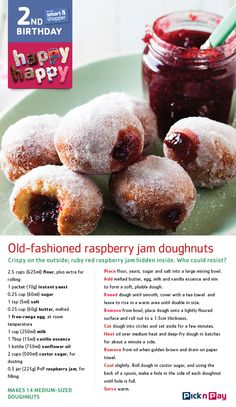 Who says cakes have to be fancy? Old-fashioned jam have come to the smart shopper party! Donut Recipes, My Recipes, Baking Recipes, Sweet Recipes, Cake Recipes, Dessert Recipes, Favorite Recipes, Recipe Tin, Biscuit Recipe