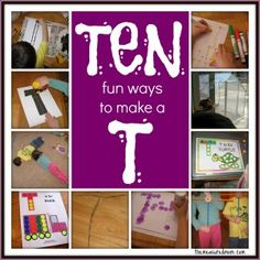 10 ways to write the alphabet: Letter T - The Measured Mom
