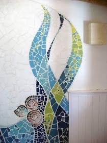 Mosaico terminado ! Mosaic Bathroom, Mosaic Diy, Mosaic Garden, Mosaic Crafts, Mosaic Projects, Mosaic Wall, Mosaic Glass, Mosaic Tiles, Glass Art