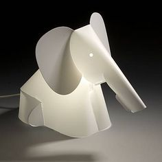 Origami elephant table lamp