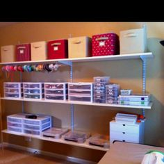 My new craft room!!!! Organized and all!