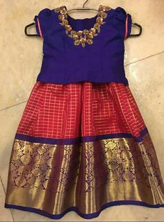 blouse designs for pattu pavadai for girls - Page Not Found - Yahoo India Image Search results Kids Dress Wear, Kids Gown, Kids Wear, Boy Dress, Toddler Dress, Toddler Outfits, Girl Outfits, Frocks For Girls, Dresses Kids Girl