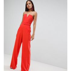 7d6256a40511 ASOS DESIGN Tall Jumpsuit With Structured Bodice And Wide Leg ( 69) ❤ liked  on