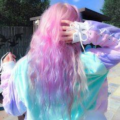 Imagem de hair, pink, and pastel