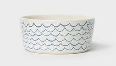 Wave Print Dog Bowl