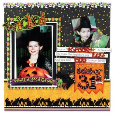 k and company scrapbook layouts | halloween wicked layout family layout blossomwood collection gift ...
