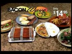 http://asseenontvblog.net/index.php/bacon-wave-commercial-as-seen-on-tv/    Bacon Wave™ allows you to cook perfectly cooked bacon in your microwave in just minutes!  Quick and easy to use  Healthier – Less fat, grease, cholesterol and calories  Holds up to 14 strips and stacks to cook up to 28 pieces at a time  Bacon won't curl or break  BPA Free  #video #asseenontv #baconwave #bacon #microwave #infomercials
