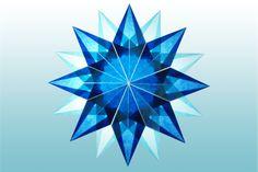 16 Zackiger Stern blau