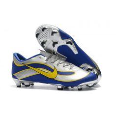 Baratas Botas De Futbol Nike Niños Mercurial Vapor XII Pro FG Plateado Azul  Amarillo visit us 0adaa4e072c3
