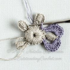 Crochet Flower Motif Applique Pattern Irish by OutstandingCrochet