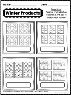 This is a **FREE** SAMPLE PAGE taken from my 3rd Grade Winter NO PREP Math Pack. Enjoy! #freebie #3rdGrade #CommonCore