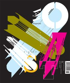 Neville Brody's cover art for the forthcoming issue of the V&A Magazine, referencing the museum's Postmodernism exhibition