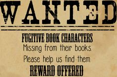 The Fugitive Book Characters scavenger hunt at the Wichita Falls Public Library…
