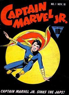 "Captain Marvel Jr / Freddy Freeman by Ed Harron Emmanuel ""Mac"" Raboy, 1941 Captain Marvel Shazam, Mr Marvel, Comic Book Artists, Comic Book Characters, Comic Character, Comic Books Art, Dc Comics, Horror Comics, Mac"
