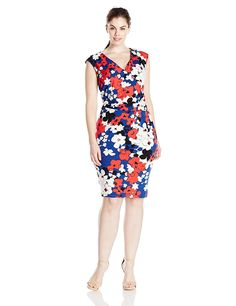 Adrianna Papell Women's Plus-Size Printed Jersey Dress >>> Check out this great image  : Plus size dresses