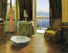 Harald Slott-Møller -   A View of Lake Garda at Desenzano, Italy, 1910