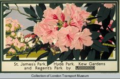 St James's Park, Kew Gardens, deur Walter E Spradbery, 1929 - Muurpapier Posters Uk, Railway Posters, Poster Prints, St James' Park, Hyde Park, Kew Gardens London, London Transport Museum, Retro Poster, Poster Vintage