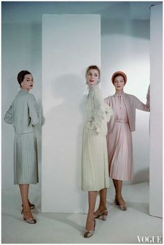 Christian Dior, Dresses and Coats, photographed by Horst P. Horst for Vogue, 1953