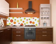 acrylic splashbacks for kitchens | This citrus fruit slice background is simple but effective and would ...