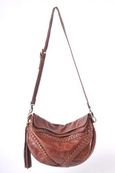 e277cf27ac TRIANGULO. Brown leather crossbody bag / leather shoulder bag / bohemian  crossbody / boho leather bag. Available in different leather colors