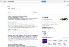 Google Search '4INFO Founders' #GoogleAnswerBox & #BreadcrumbLink