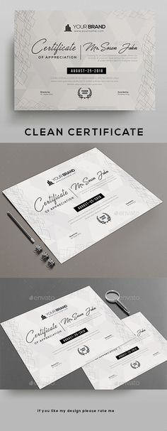 Buy Certificate by DUrgaDesigns on GraphicRiver. Certificate TemplatePsd file and Ms ward file includeFully Clean Certificate Paper Size With BleedsQuick and easy . Certificate Layout, Certificate Of Merit, Certificate Background, Certificate Design Template, Gift Certificates, Certificate Images, Letterhead Template, Stationery Templates, Stationery Design