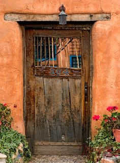 I just LOVE old doors!  Why?  Don't know!