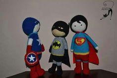 Crochet toy superhero