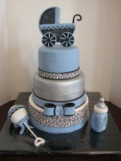 Elegant babyshower By GRAMMASUE on CakeCentral.com