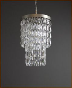Tigermoth Clear Crystal Lantern Nickel