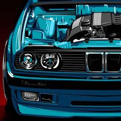 I'm excited to see where I am in 1 year from now. Bmw E30 325, Bmw M3, Bmw E30 Convertible, Cool Car Drawings, Street Racing Cars, Bmw Wallpapers, Bmw Autos, Car Illustration, Automotive Art