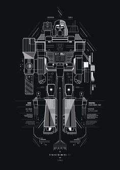 Decepticon by Petros Afshar, via Behance