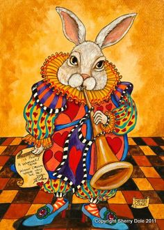 I think I've read every version of Alice in Wonderland and I'm still fascinated by the White Rabbit!