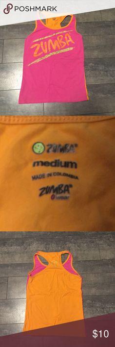 Zumba pink/orange/gold tank top size medium Zumba pink/orange/gold tank top size medium Zumba Tops Tank Tops
